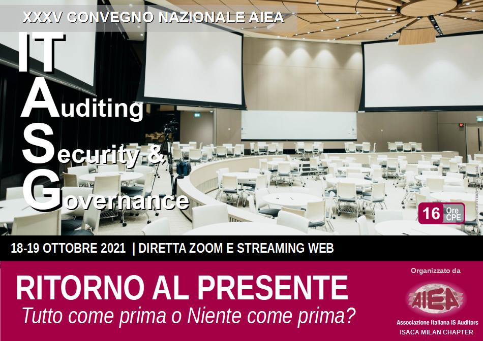 Coperatina Brochure XXXV Convegno Nazionale AIEA - IT Auditing, Security & Governance 2021