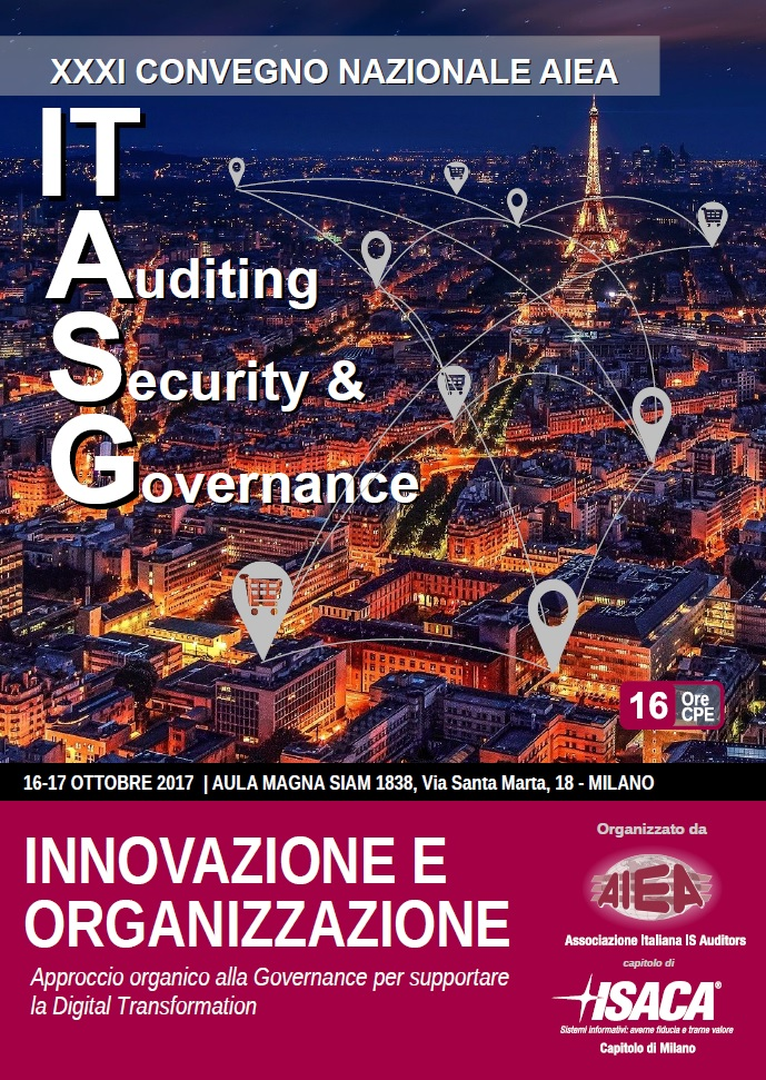 Coperatina Brochure XXXI Convegno Nazionale AIEA - IT Auditing, Security & Governance 2017