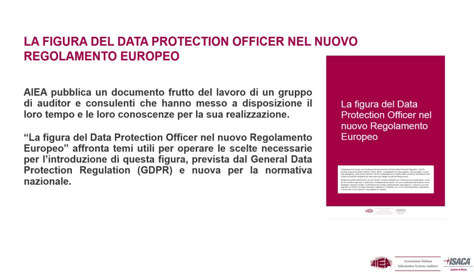 """AIEA pubblica il documento """"La figura del Data Protection Officer nel nuovo regolamento europeo"""""""