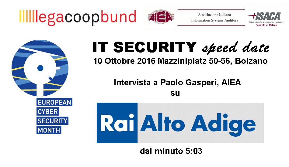 AIEA su Rai Alto Adige: Intervista a Paolo Gasperi