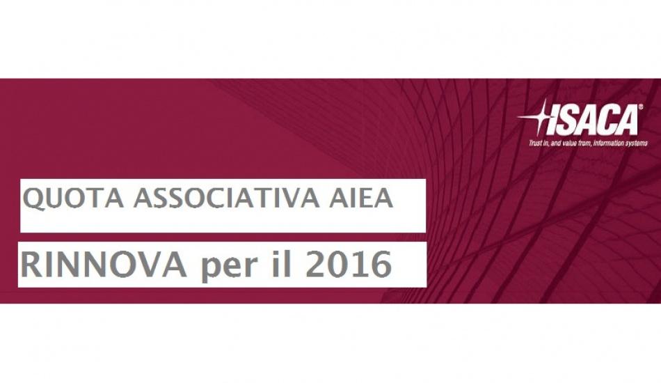 Rinnovo AIEA 2016