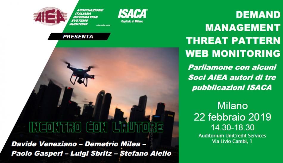 Incontro con l'autore: Demand Management, Threat Pattern, Web Monitoring